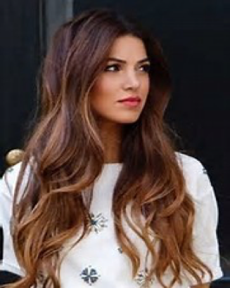 Womens long hairstyle