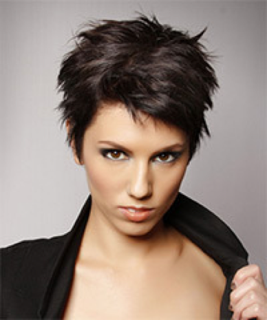 Womens short hairstyle